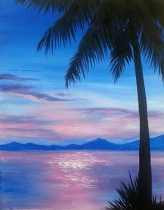 Learn to Paint Lavender Seas tonight at Paint Nite! Our artists know exactly how to teach painters of all levels - give it a try! Night Painting, Abstract Art Painting, Art Painting, Beach Painting, Painting Website, Canvas Art, Painting Projects, Abstract, Pictures To Paint