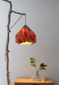 Make this cool lamp shade out of a paper sack.