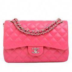 Chanel Fuchsia Pink Quilted Lambskin Jumbo Classic 2.55 Flap Bag   Chanelhandbags 303b684f64c