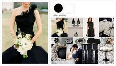 Classic Black and White Palette with Coordinating Bouquet xo