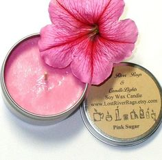 Soy Candle  Vegan Friendly  Pink Sugar Scent  100 by LostRiverRags, $4.50
