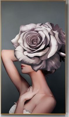 Woman Flower Head Wall Art HD Beautiful woman painting with flower head?Beautiful woman painting with flower head? Art Watercolor, Painted Ladies, Woman Painting, Sexy Painting, Beauty Art, Beauty Women, Portrait Art, Belle Photo, Colorful Flowers