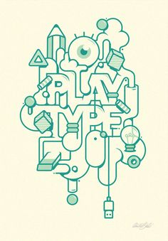 Typographic Illustrations. André Beato