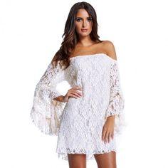 New Autumn Summer Women Ladies Lace Dress off the shoulder y Lace Dresses Alternative Measures
