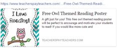 Cute Owl Cartoon, Reading Posters, Student Motivation, I Love Reading, Encouragement