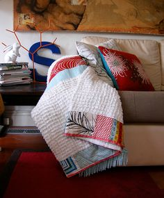 quilt with vintage chenille. love that combination. photo: aunty cookie