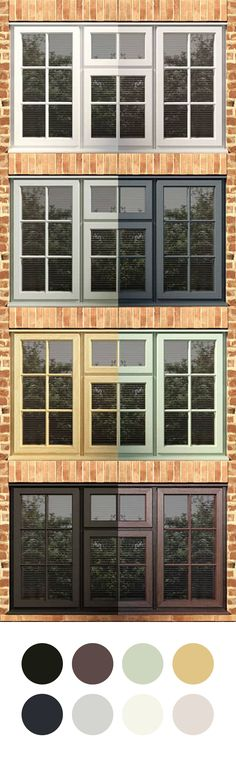 So many colours, so many options. Choose from our range of windows to suit any exterior!