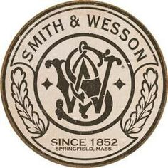 Smith & Wesson Round Logo - Vintage Tin Sign