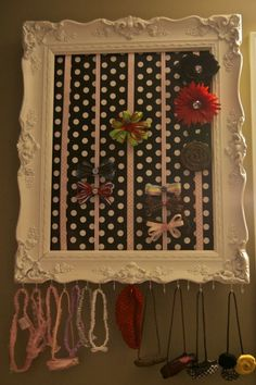 Picture frame bow & headband holder tutorial by barbra