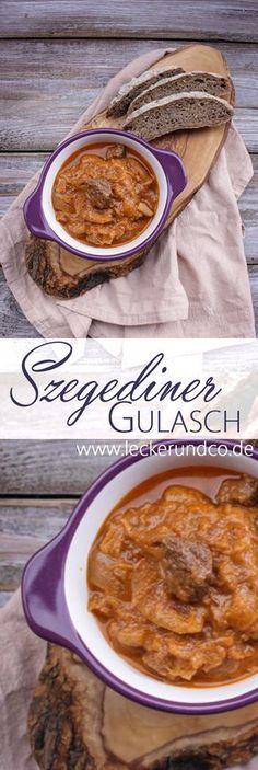 Rezepte für Sonntag & Abendessen. Rezept: Szegediner Gulasch | Gulasch mit Sauerkraut