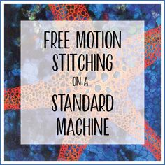 Free motion stitching on a standard sewing machine - Thread Sketching in Action Freehand Machine Embroidery, Free Motion Embroidery, Free Machine Embroidery, Free Motion Quilting, Quilting Tips, Quilting Tutorials, Beginner Quilting, Embroidery Thread, Quilting Projects