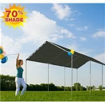 Mesh Tarp Shade Canopy Mesh tarp canopies made with poles and canopy fittings. Canopy Frame, Diy Canopy, Canopy Outdoor, Canopy Tent, Canopies, Tarp Shade, Shade Canopy, Patio Shade, Portable Canopy