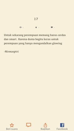 Untuk sekarang perempuan memang harus cerdas d. Haha Quotes, Bio Quotes, Today Quotes, Reminder Quotes, Self Quotes, Crush Quotes, Words Quotes, Funny Quotes, Inspirational Quotes