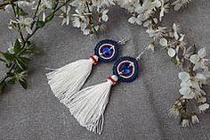 slovak folk earrings, slovak folklore jewelry, macrame earrings, fringe earrings Macrame Earrings, Fringe Earrings, Folklore, Jewelry, Jewlery, Jewerly, Schmuck, Jewels, Jewelery