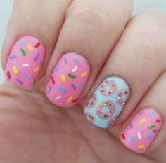 # Donut nails # Birthday nails # Summer nails for children Donut nails . Birthday Nail Designs, Birthday Nail Art, Card Birthday, Birthday Quotes, Birthday Ideas, Birthday Gifts, Birthday Design, Cute Nail Art, Cute Nails