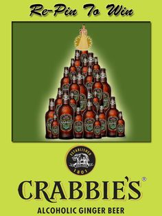 1.Prize Draw open to UK residents aged 18+. See full T at http://crabbiesrules.tumblr.com/. To enter, re-pin promotional Christmas image from http://pinterest.com/crabbiesuk/.     2.Two winners, chosen at random from all valid re-pins made up to and including 7:00pm Monday 17th December, will each receive 8 x 330ml bottles of Crabbie's Alcoholic Ginger Beer, subject to availability.    3.Data will be used in accordance with UK data protection laws.