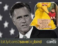Tell Mitt Romney not to give Big Bird the boot!
