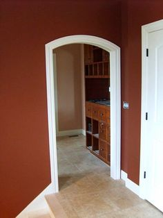 Most people do not know this is possible, but you can make a normal rectangular door slab with an arched panel look like an expensive arched-top door by customi… Home Door Design, Arch Doorway, Arched Doors, House Doors, Bathroom Doors, Pocket Doors, Home Remodeling, Tall Cabinet Storage, New Homes