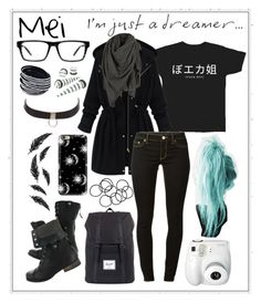 """""""I'm Just A Dreamer..."""" by minyxxngi ❤ liked on Polyvore featuring moda, Spy Optic, MICHAEL Michael Kors, Charlotte Russe, AllSaints, Herschel Supply Co., H&M, Casetify, Polaroid e women's clothing"""