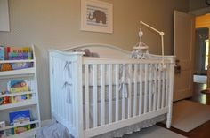 grey, white and elephant bedding Grey And White Bedding, Elephant Bedding, Nursery Grey, Elephants, Baby Room, Cribs, Furniture, Home Decor, Bebe