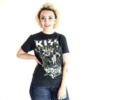 Vintage KISS t shirt black rocker grunge goth by brotherxiivintage