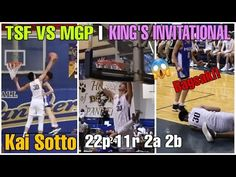 TSF VS MGP || King's Invitational || kai Sotto Double Double (22p 11r 2a... Kai, Wrestling, Baseball Cards, Sports, Lucha Libre, Hs Sports, Excercise, Sport, Exercise