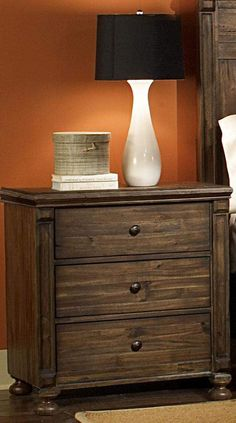 Ardenwood Natural Antique Wood Metal Night Stand