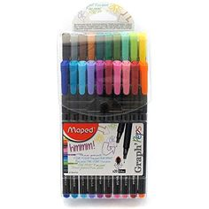 Maped Graph'Peps Fineliners, Assorted Colors, Pack of 20 (749151) Maped http://www.amazon.com/dp/B00IXQQ624/ref=cm_sw_r_pi_dp_FZq0vb02HP90E