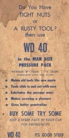 In 1964 when WD 49 was first advertised.