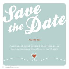 Save the Date - get StD's done on CNC...make video, send as email...save the trees.