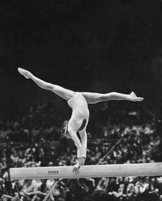 March Olga Korbut, who won three gold medals at the 1972 Munich Olympics, on the balance beam at Madison Square Garden several months before an article in The Times was published, reporting. Gymnastics Pictures, Gymnastics Girls, Acrobatic Gymnastics, Olympic Gymnastics, Dorothy Hamill, Nadia Comaneci, Balance Beam, Olympic Sports, Those Were The Days