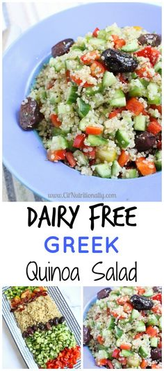 20 Minute Dairy Free Greek Quinoa Salad C it Nutritionally This 20 Minute Dairy Free Greek Quinoa Salad is all around EASY -- easy to whip up, easy to digest, and easy on your taste buds… and absolutely delicious! Sport Nutrition, Vegan Nutrition, Nutrition Store, Nutrition Articles, Nutrition Poster, Nutrition Club, Nutrition Chart, Nutrition Month, Fitness Nutrition