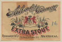 Salvador Brewery Extra Stout by Thomas Fisher Rare Book Library, via Flickr