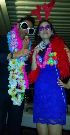 Fancy dress accessories always add an extra element of fun & help guests loosen up & have a great party. Snapped at tonight's wedding at Palm Beach Golf Club on Sydney's Northern Beaches - where the iconic Home & Away series is shot.