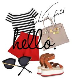"""summer time"" by omahtawon ❤ liked on Polyvore featuring Alice + Olivia, STELLA McCARTNEY and Hermès"