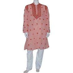 Vêtement Homme - Pajama Kurta en Coton Broderie Chikan (L/52): Amazon.fr: Vêtements et accessoires