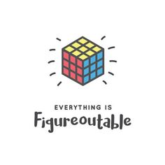 A5/A4 Rubiks cube wall print. Everything is figureoutable.