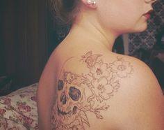 skull tattoo, not finished yet