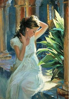 Gallery of artist Vladimir Volegov, portraits of very beautiful women. Painting People, Woman Painting, Figure Painting, Painting & Drawing, Modern Artwork, Fine Art, Painting Frames, Painting Doors, Painting Canvas