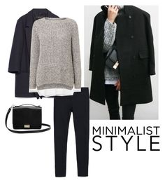 """""""Simplicity"""" by bluehydrangea ❤ liked on Polyvore featuring Zara, Oui and Lauren Merkin"""