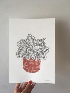 Items similar to pot plant drawing // acrylic painting // plant poster // wall art // pencil illustration // mixed media art // one of a kind // modern art on Etsy Plant Drawing, Pencil Illustration, Poster Wall, Medium Art, Potted Plants, Watercolor Paper, Mixed Media Art, Pencil Drawings, Modern Art
