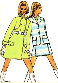 Illustration by Blossac for Emanuel Ungaro, 1968