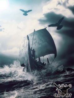Viking ship art. #vikingships #artwork