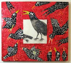 Four and Twenty Blackbirds by alana kapell, encaustic and mosaic