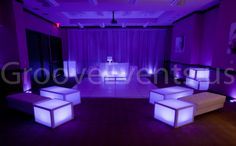 Glow cubes and lighting by GrooveEvents.us