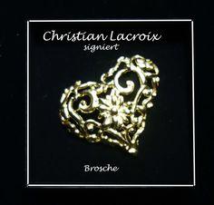 Brosche, signiert Christian Lacroix, Vintage, Jewelry, Fashion, Pink, Necklaces, Bangle Bracelet, Gemstones, Brooch
