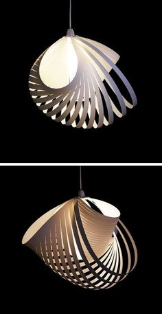 [Kaigami Nautilus Hanging Light] This reminds me of a basket. So modern, yet so…