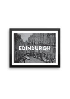 Edinburgh TRAVEL ART PRINT A5/A4/A3/A2 by Hatchesandmatches