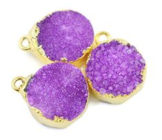 5 Pcs Purple Druzy Gemstone Connector,Jewelry Making Gems... https://www.amazon.com/dp/B06VW38GDQ/ref=cm_sw_r_pi_dp_U_x_sg1oAbWAFHB0V