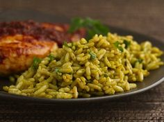 Green Poblano Rice - Poblano provides a spicy addition to this fabulous side dish made with Progresso® chicken broth and rice.